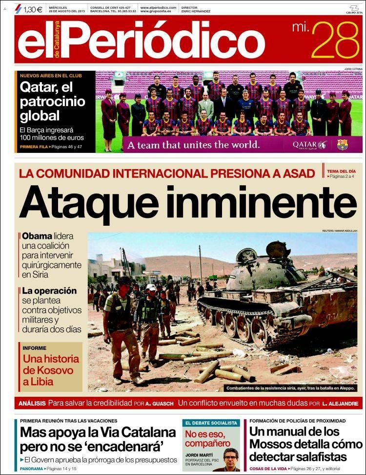 El Periódico, 28/8/2013