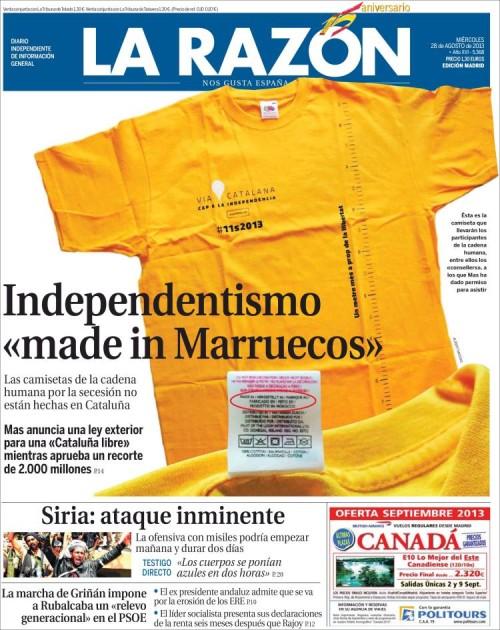 La Razón, 28/8/2013
