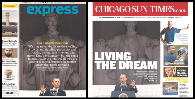 «Express» (Washington) y «Chicago Sun-Times», 29/8/2013