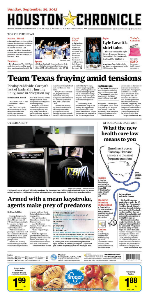 «Houston Chronicle», 29/9/2013