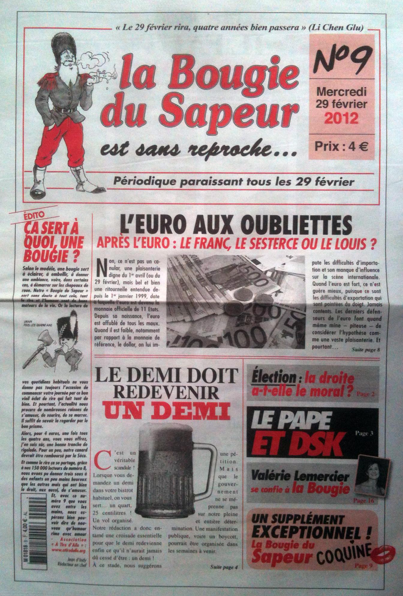 «La Bougie du Sapeur» — nº 9, 29/2/2012