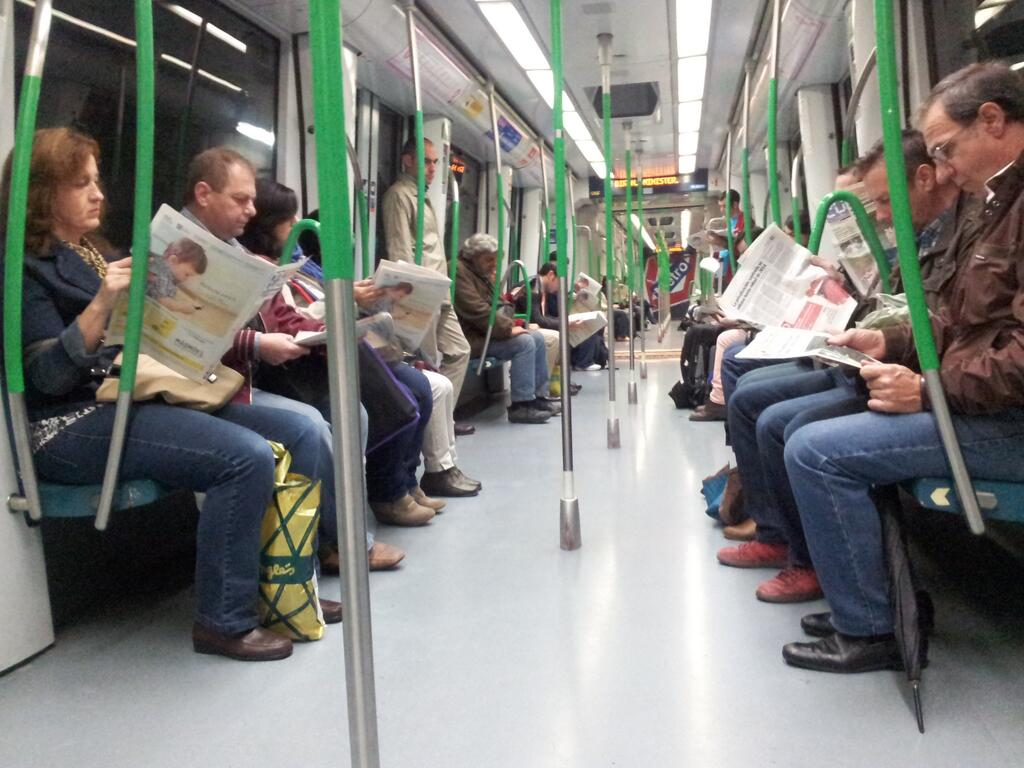 Metro de Madrid, 24 octubre 2013, 7.37 am