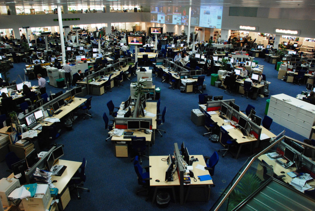 Redacción integrada de Telegraph Media Group, estrenada en octubre de 2006.