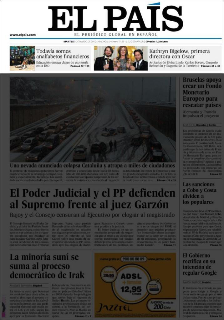 «El País», 9/3/2010