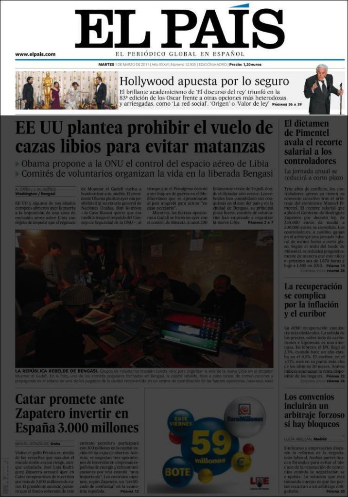 «El País», 1/3/2011