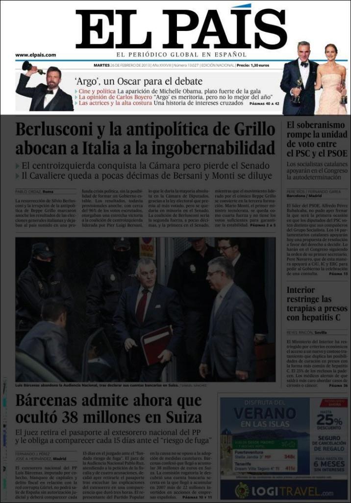 «El País», 26/2/2013