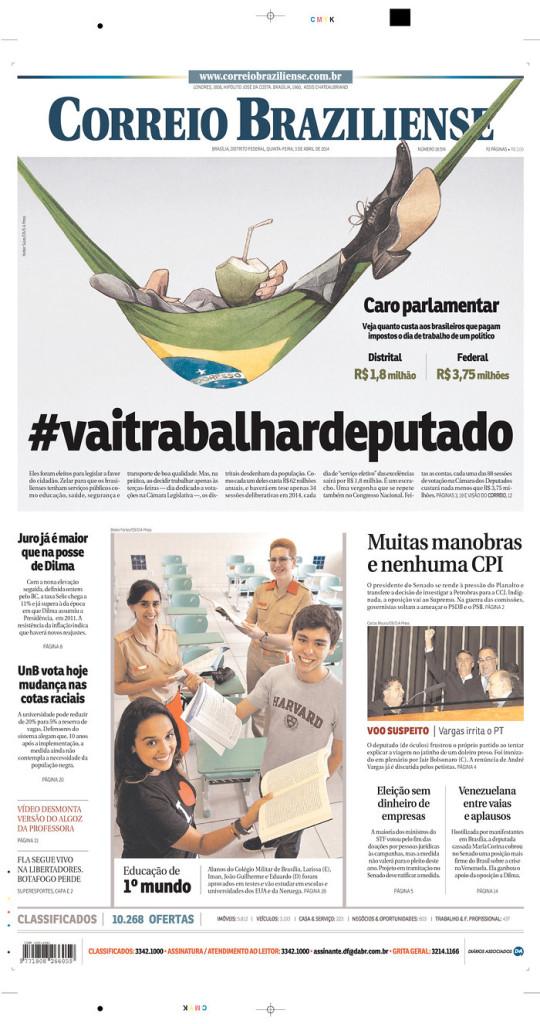 «Correio Braziliense» (Brasilia, Brasil), 3/4/2014