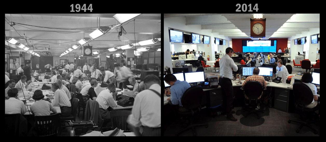 Evolución de la redacción del «New York Daily News» (1944—2014)