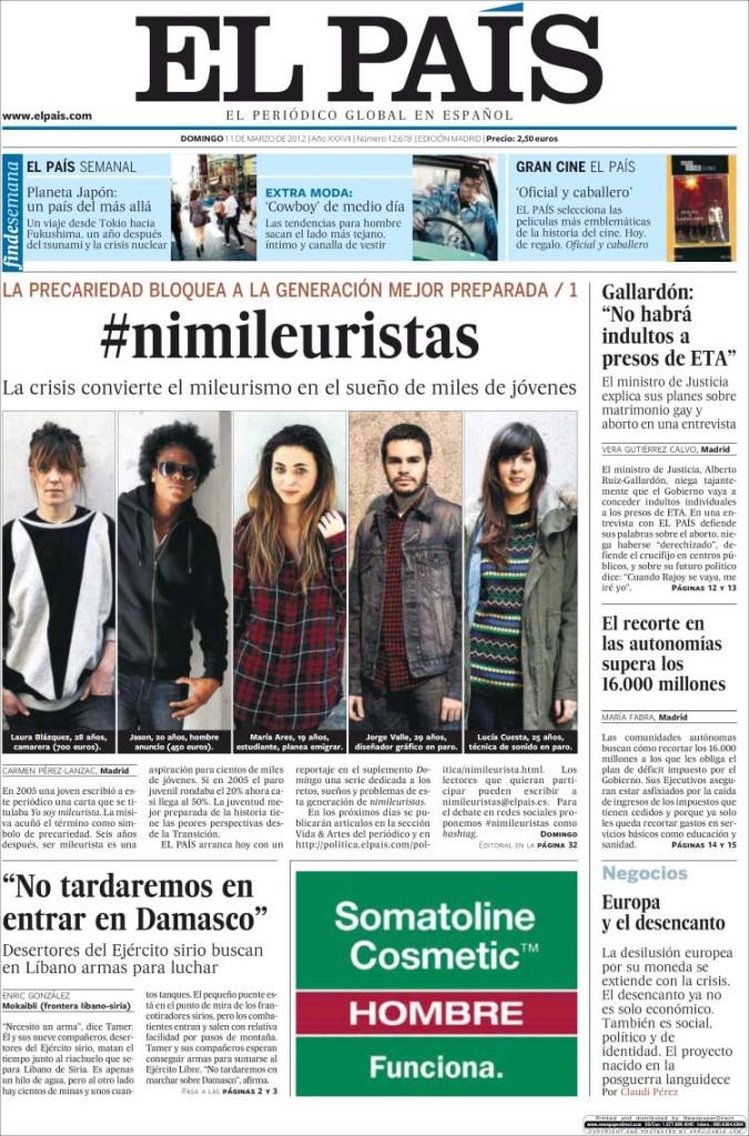 «El País» (Madrid, España), 11/3/2012