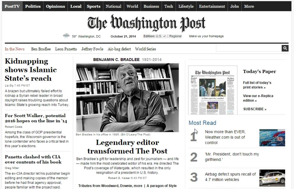 WashingtonPost.com, 21/10/2014