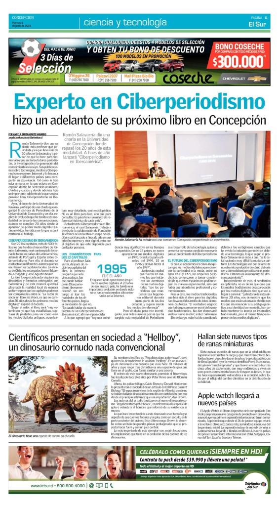 'El Sur' (Concepción, Chile), 5 junio 2015, pág. 11